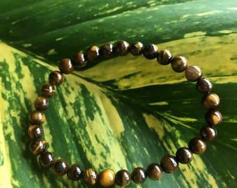 Tiger's Eye Bracelet, Gemstone Bracelet, Earthy Bracelet, Boho Bracelet, Stone Jewelry, Cat's Eye Bracelet, Healing Bracelet, Vegan Jewelry