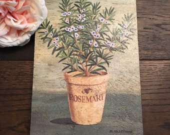 Wooden Rosemary Herb Wall Plaque / Sign