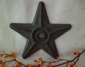 "Vintage Repro? 7"" Cast Iron Architectural Building Star Prim Rustic Decor #8"