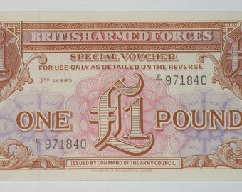 British Military Payment Certificate- 1 Pound 1956