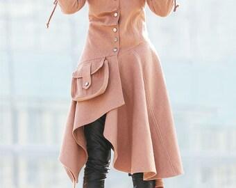 Jacket, Coat, womens jackets, Swing Coat, Asymmetrical  coat, winter coat women, asymmetrical swing coat, winter coat, wool coat, coats C180