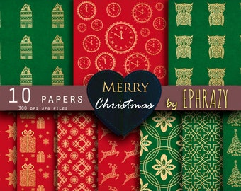 Christmas digital paper. Christmas digital. Christmas gold. Christmas. Christmas paper. Red green. Christmas gold paper.
