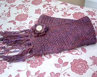 Scarf with flower