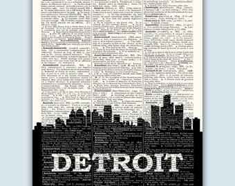 Detroit Skyline, Detroit Poster, Detroit Michigan Art, Detroit Decor, Detroit Art Print, Detroit Wall Art, Detroit Wall Decor
