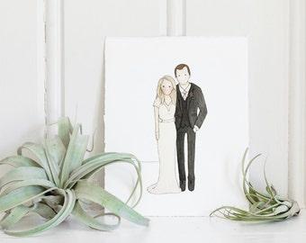 Wedding Portrait | Couple Illustration | Custom Portrait | Portrait | Watercolor | Hand Painted | Wedding Gift