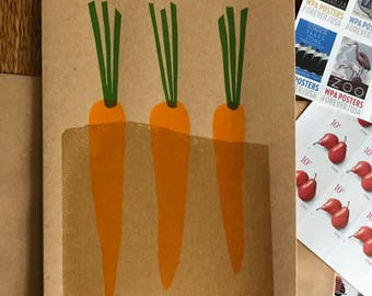 Screen Printed Carrot Card