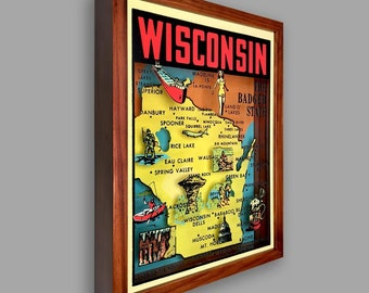 Wisconsin Shadowbox Art