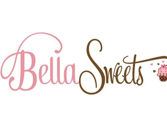 Bella Sweets Cupcake Premade Photography Branding Logo Design