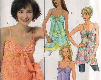 Butterick Baby Doll SUMMER TOPS Pattern 4550 Misses Sizes 6 8 10 12