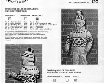 Cowichan Style Child's Sweater and Toque #120 PDF Pattern