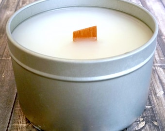 Coconut Craze - Handmade - Soy Candle - 5.7 oz - Tin with Lid - Wood Wick - Scented Soy Candle - Scents for Spring - Coconut Milk Pineapple