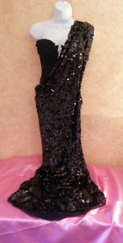 Exotische schwarze Pailletten Crystal Korsett Sari Saree Wrap