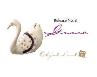 Elegance of Swans Jewelry Trinket Box