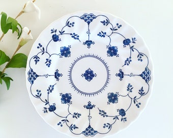 Churchill Finlandia bread and butter plates made in England blue and white china vintage  sc 1 st  Etsy & Churchill plates | Etsy