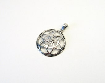 Flower of Life silver 925 seeds of life same jewelry pendant