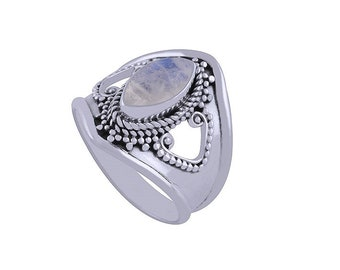ATHENA  moonstone silver ring