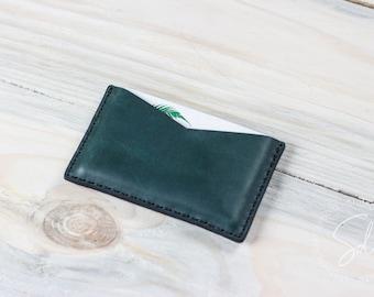 Visitenkartenetui, Leder-Karte-Fall, personalisierte Geldbörse, Leder-Kartenhalter, Karte Ärmel, Visitenkarten-Etui, Leder-Brieftasche
