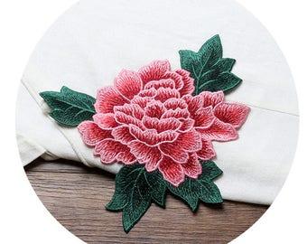 Embroidery Flower Appliques - 16X16 cm