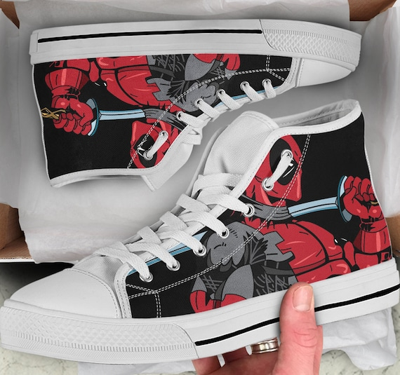 2020c7039a94 Looks Shoes Converse Top High Deadpool Men s Footwear Sneakers 2 Women s  Colorful Shoes like sneakers Deadpool
