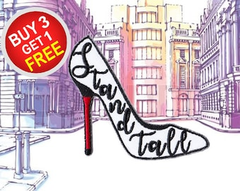 Heels Iron On Appliques Iron On Embroidered Patches