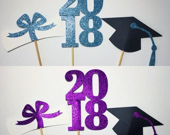 Graduation Centerpiece Sticks 2018, Graduation Party, Party Decor, Graduation Decorations, Graduation, Class of 2018, Party