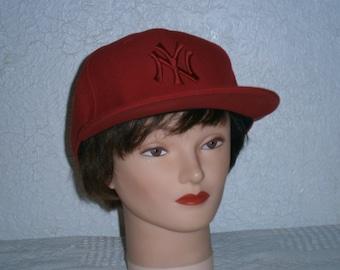 Red NY baseball cap