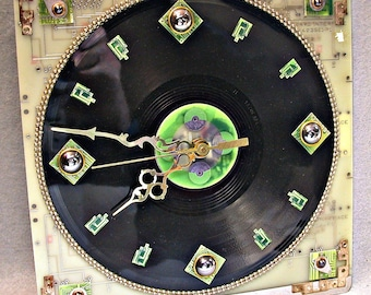 Recycled Circuit Board WALL CLOCK Techie Geekery Recycled PCBs