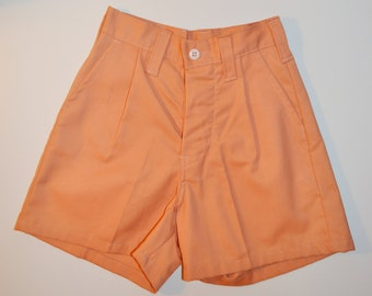High Waisted Shorts High Waist Shorts Orange Shorts Pleated Shorts Women's Shorts Size X Small