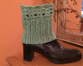 Sage green boot cuffs
