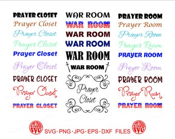 Digital Cut File, Prayer Closet, Prayer Room, War Room, Swords, Scroll, Vinyl Cutting File, SVG, DXF, EPS, Silhouette, Cameo, Cricut