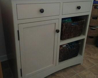 Bathroom Basket Cabinet