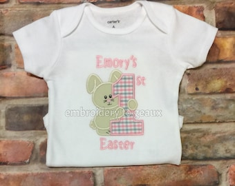 First Easter Outfit Girl, My First Easter Outfit Girl, Baby's First Easter Bodysuit, Personalized First Easter Bodysuit