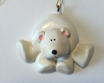 Personalized Polar Bear Christmas Ornament