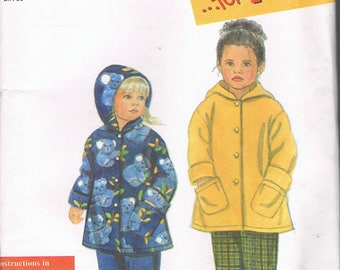 Size 2-6X Girls Easy Jacket & Pants Sewing Pattern - Pull On Pants Pattern - Hooded Jacket Sewing Pattern  - Simplicity 8296