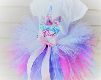 Unicorn Tutu Dress - Birthday Girl Tutu - Unicorn Birthday Tutu - Birthday Girl Unicorn Tutu - Birthday Unicorn Outfit - Birthday Tutu