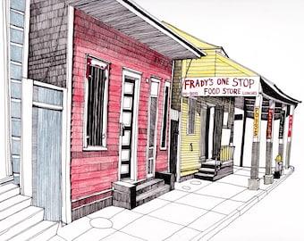 New Orleans Architecture Art Print