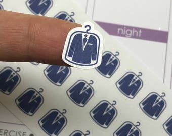 dry cleaning planner stickers