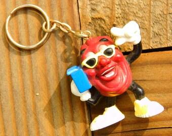 Vintage 80s California Raisin Boombox KeyChain