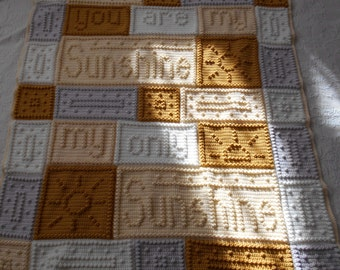 SUNSHINE pattern for crocheted blanket