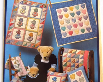 "The Little Quilt Collection Pattern ""Friends"" Cute Sweet Hearts and Sunbonnet Girls"