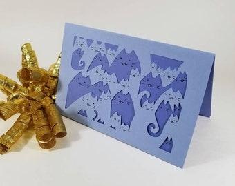 Custom : Squishy Cats Card