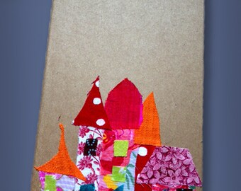 Hand decorated Moleskin Notebooks with Magical Villages