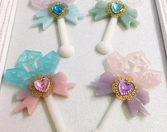 Crystal Wand Pin   Fairy Kei Brooch   Lolita Brooch   Crystal Wand Brooch   Magical Girl Wand   Mahou Kei Pin   Sweet Lolita Pin