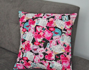 16x16 Pillow Cover for Valentine's Day. Decorative Pillow. FAST SHIPPING. Throw Pillow Covers 16x16.
