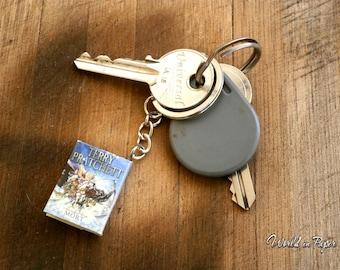 Mini book keyholder, favorite book keyholder, book keychain, custom book keyholder, men's gift, gift for him, bookish gift, reader gift