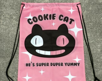 pink cookie kitty cat  Drawstring bags limited run