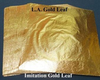 "Imitation Gold (100) Leaf Sheets 6 1/4"" x 6 1/4"""