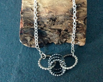 Sterling silver handmade link necklace, hallmarked in Edinburgh