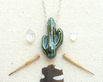 Kaktus Halskette saftig Halskette Saguaro Kaktus Wüste Pflanze Boho Hippie Schmuck südwestlichen Schmuck