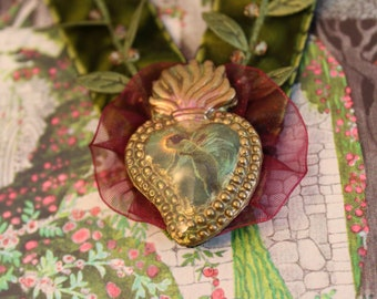 Garden Sylph Velvet Ribbon Pendant Necklace